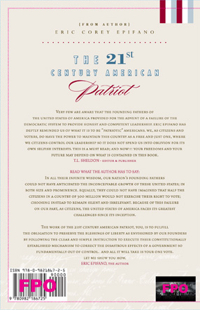 The 21st Century American Patriot back cover by Eric Corey Epifano